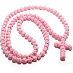 Pink Knotted Rosary without dividers