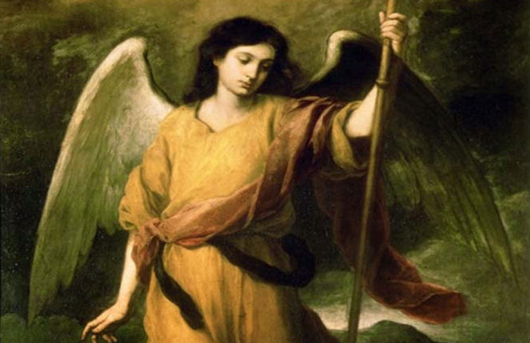 The Angel helping Saint Anthony Great
