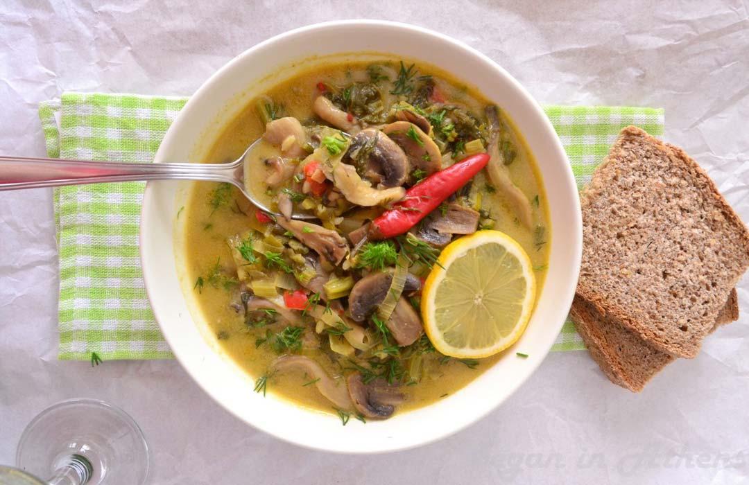 Recipe for Vegan Alternative to Greek Mageiritsa Soup