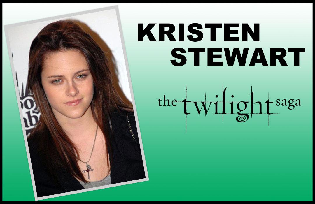 Kristen Stewart with Gothic Cross Necklace