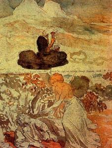 Prophet Elias in the Desert