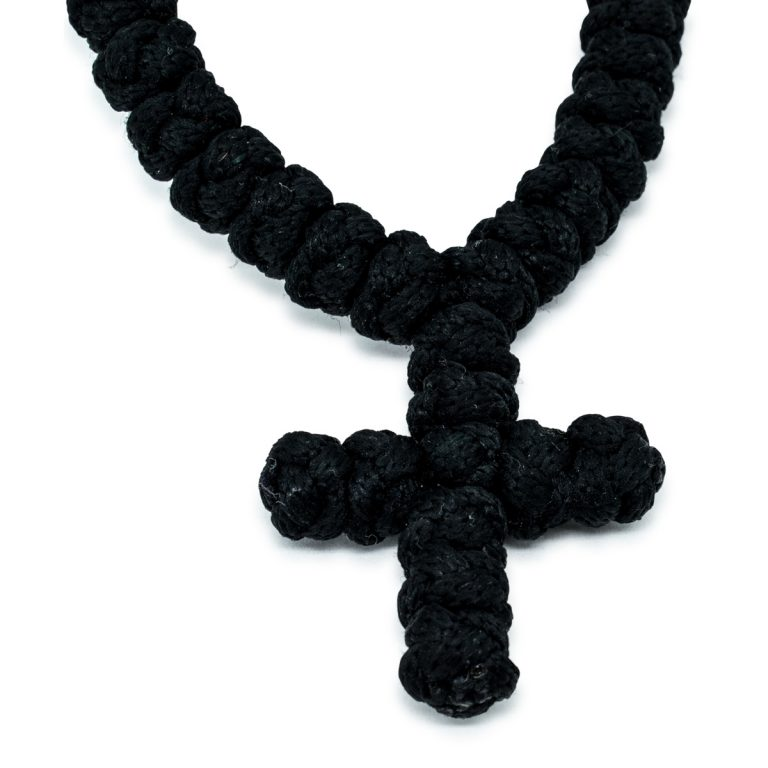 Sensational 100 Knot Black Prayer Necklace without dividers
