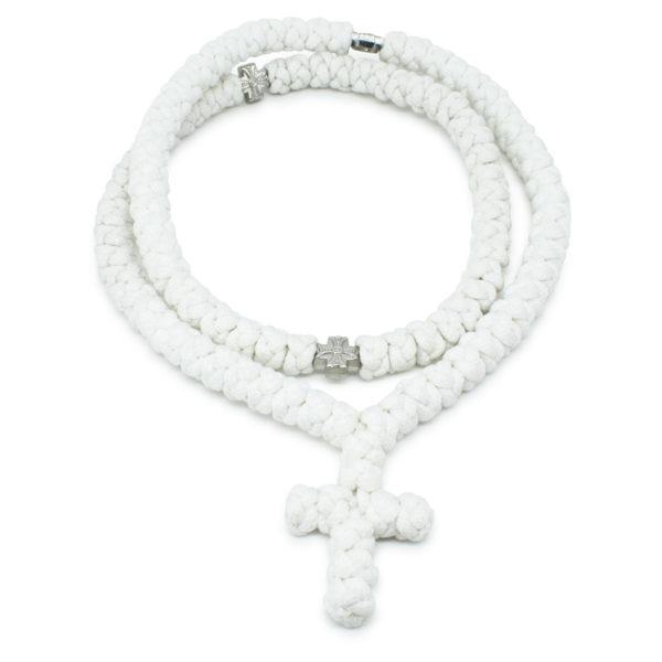100 Knot White Prayer Necklace-0