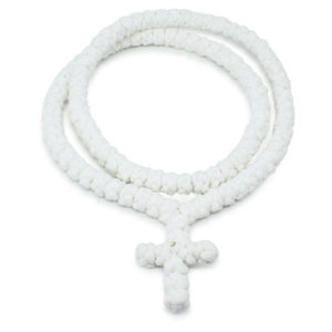 100 Knot White Prayer Necklace Without Dividers-0