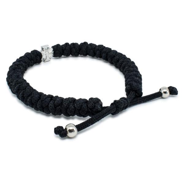 Adjustable Black Prayer Bracelet