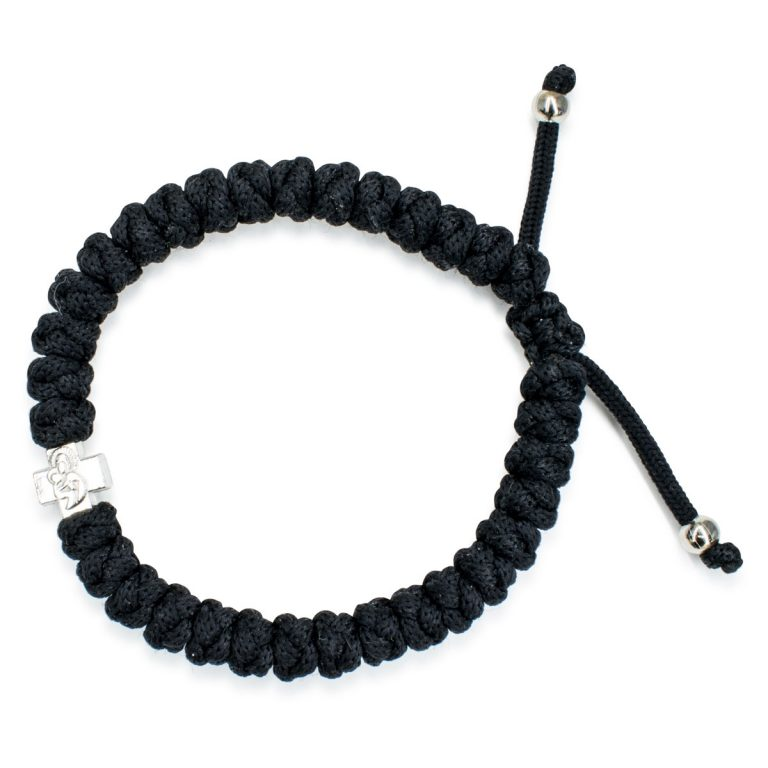 Adjustable Black Prayer Bracelet
