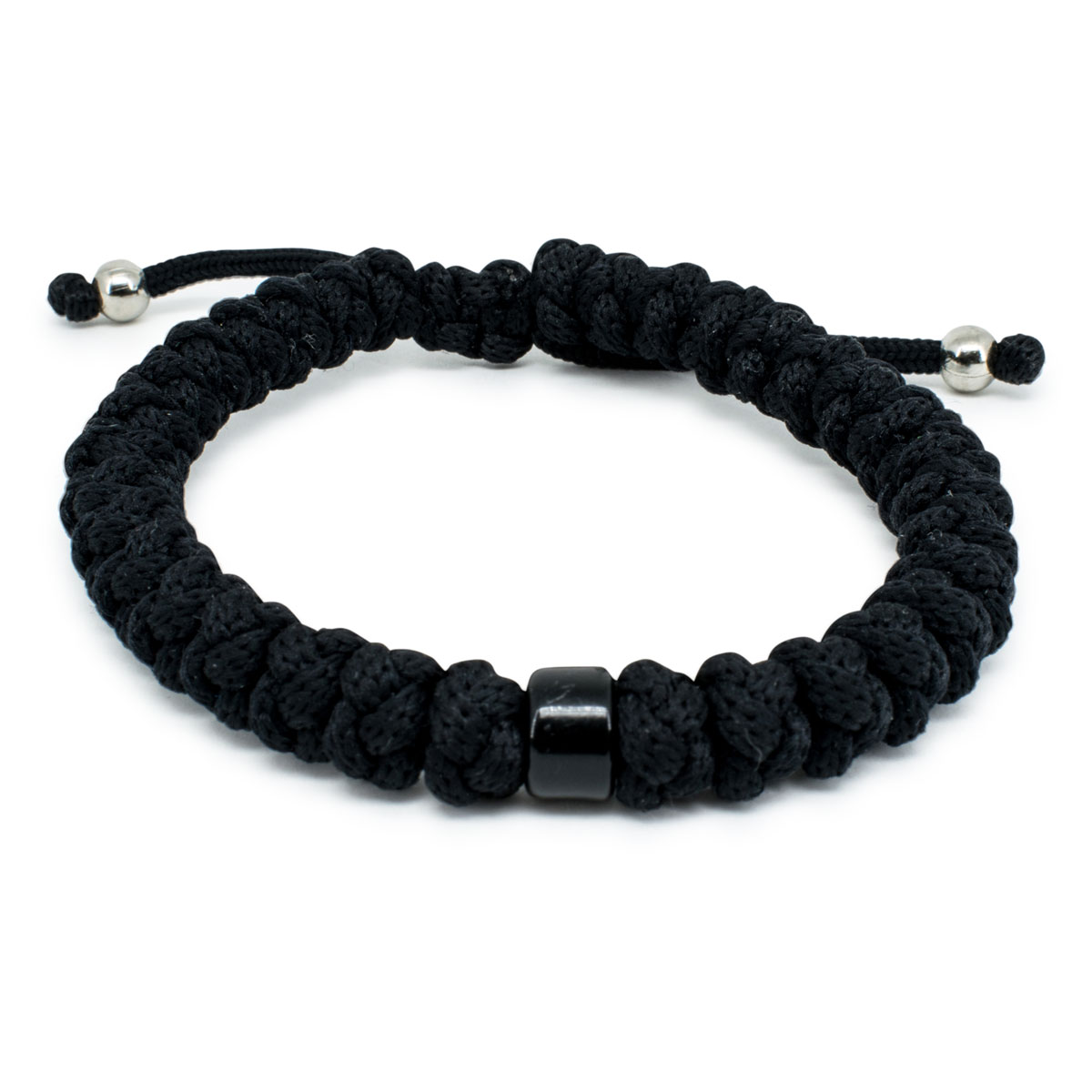 Adjule Black Prayer Bracelet With Bead 0