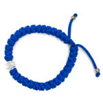 Adjustable blue prayer bracelet