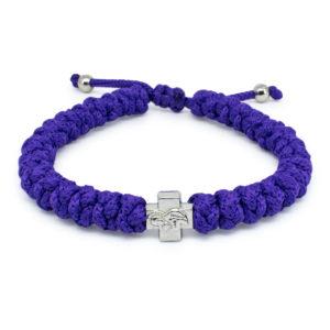 Adjustable Dark Purple Prayer Bracelet-0