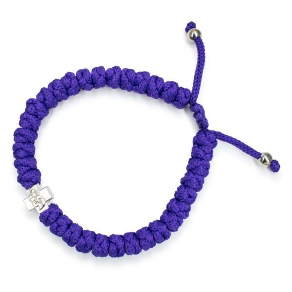 Adjustable Dark Purple Prayer Bracelet