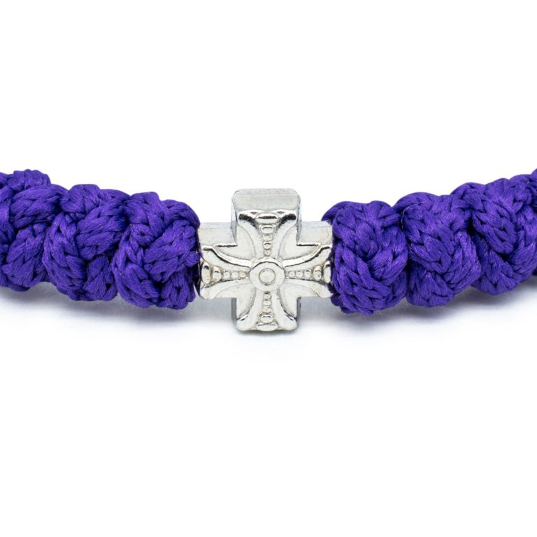 Dark Purple Prayer Bracelet
