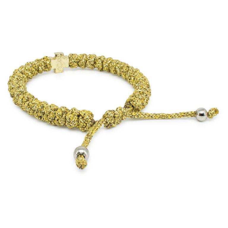 Adjustable gold prayer bracelet