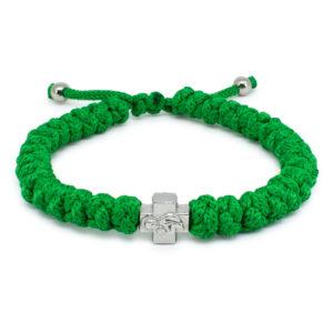 Adjustable Green Prayer Bracelet-0