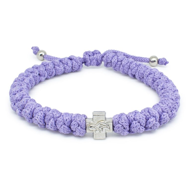 Adjustable Lila Prayer Bracelet-0