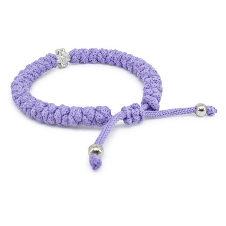 Adjustable lila prayer bracelet