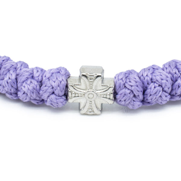 Adjustable lila prayer bracelet
