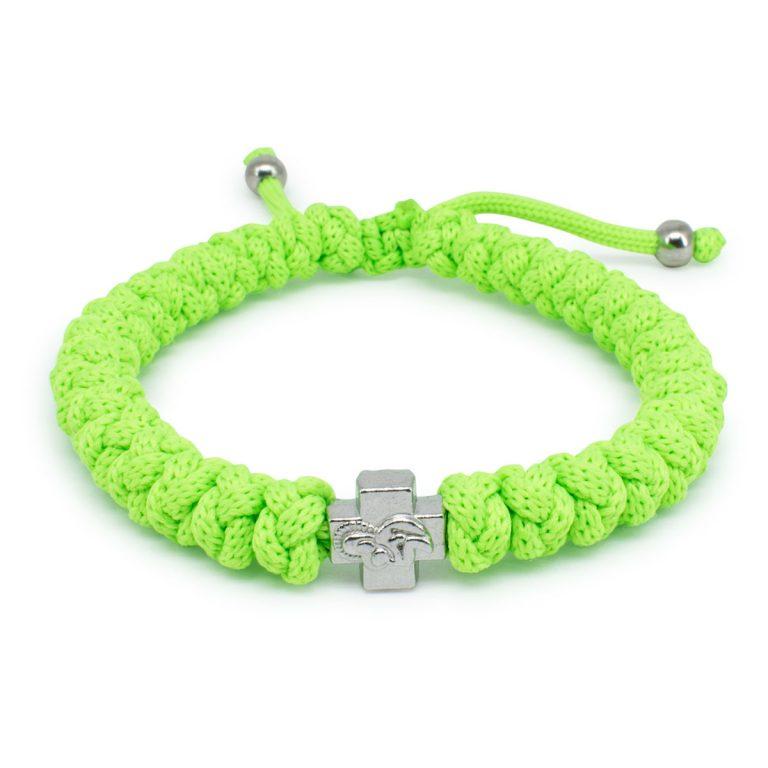 Adjustable Neon Green Prayer Bracelet-0