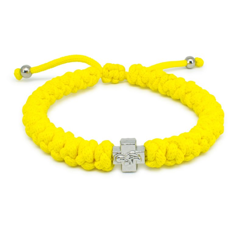 Adjustable Neon Yellow Prayer Bracelet-0