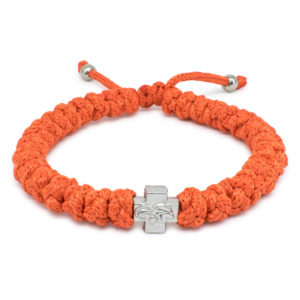 Adjustable Orange Prayer Bracelet-0