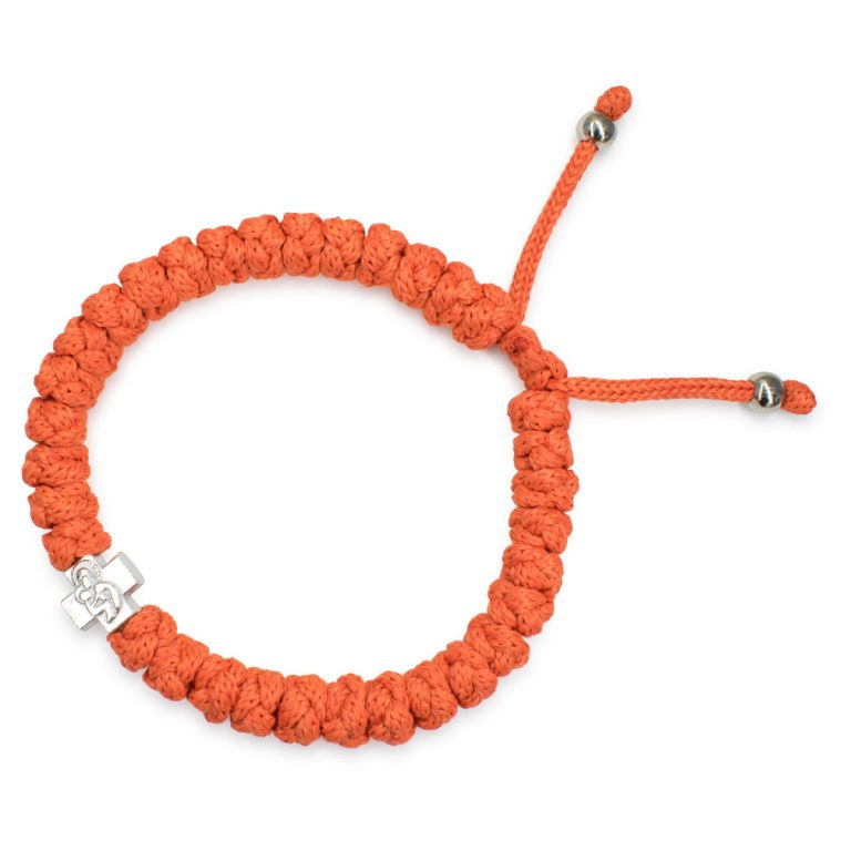 Adjustable Orange Prayer Bracelet
