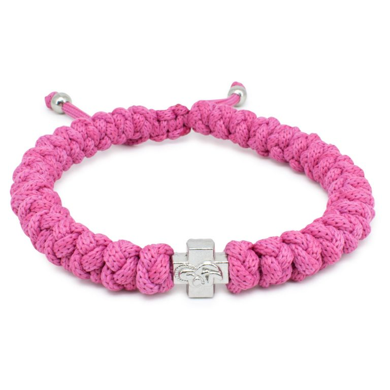 Adjustable Pink Prayer Bracelet-0