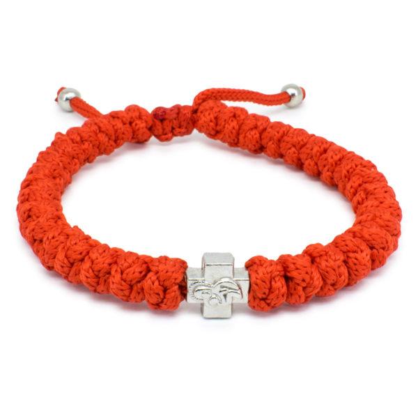 Adjustable Red Prayer Bracelet-0