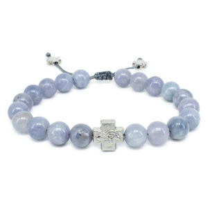 Aquamarine Stone Prayer Bracelet-0