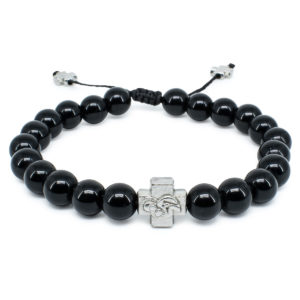 Black Onyx Stone Prayer Bracelet-0