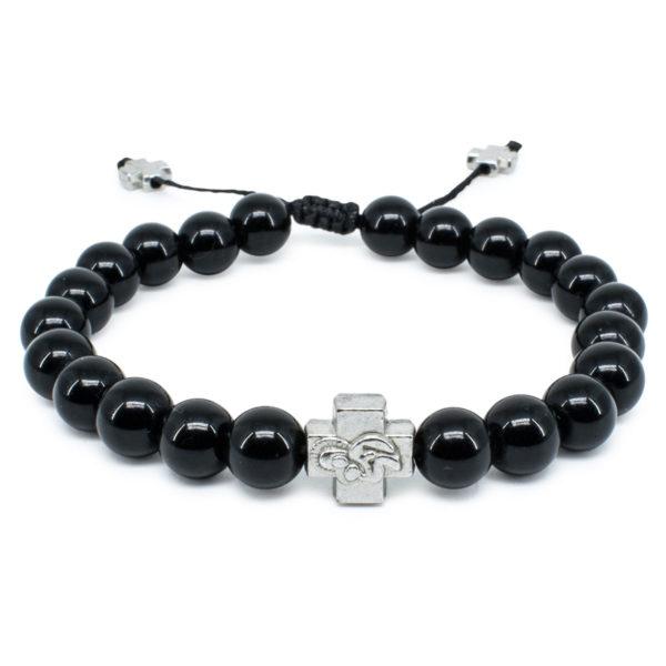 Black Onyx Stone Prayer Bracelet-0