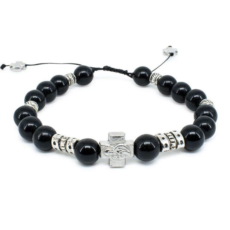 """Black Onyx Stone Prayer Bracelet """"Zane""""-0"""