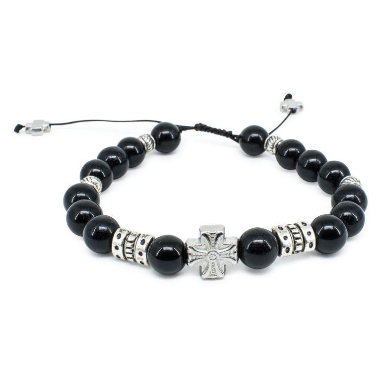 "Black Onyx Stone Prayer Bracele ""Zane"""