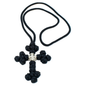 Black Orthodox Saint Sava Cross Necklace-0