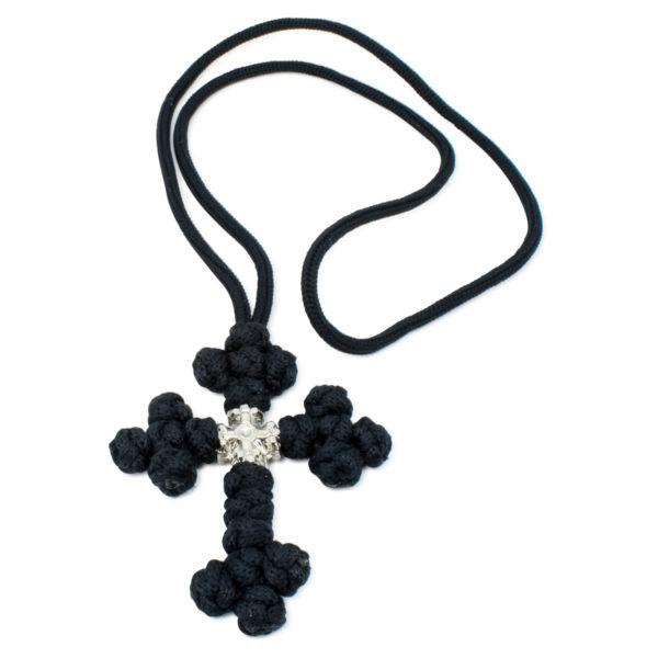 Black Orthodox Saint Sava Cross Necklace-0