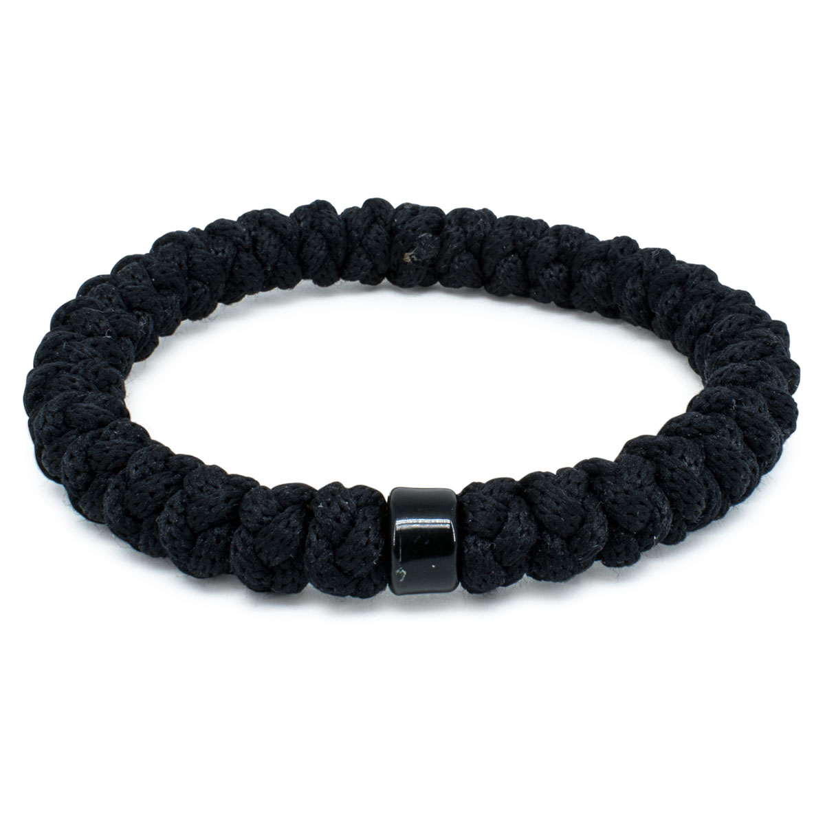 Black Prayer Bracelet With Bead 0