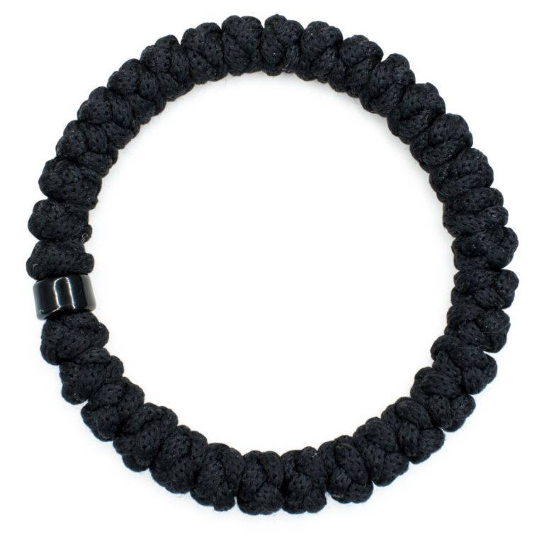 Black Prayer Bracelet with Bead