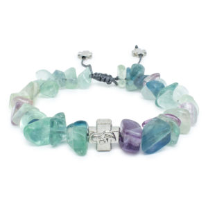 Fluorite Stone Chips Prayer Bracelet-0