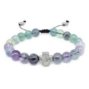 Fluorite Stone Prayer Bracelet-0