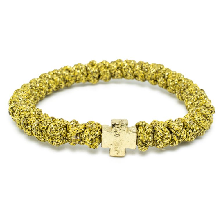 Gold Prayer Bracelet
