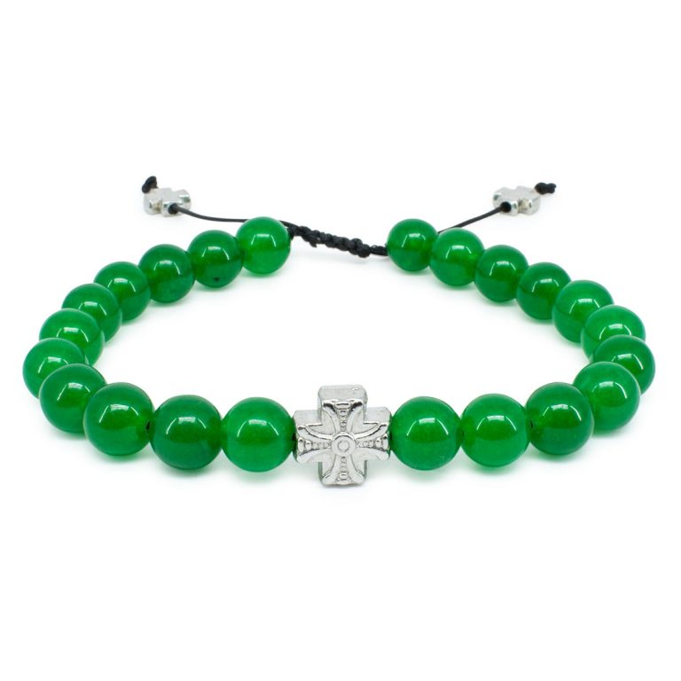 Green Jadeite Stone Prayer Bracelet