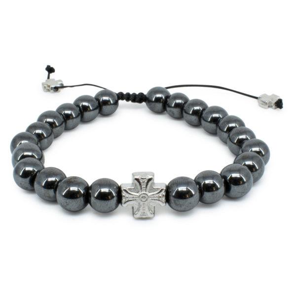 Classy Hematite Stone Prayer Bracelet