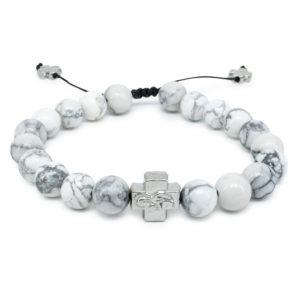 Howlite Stone Prayer Bracelet-0