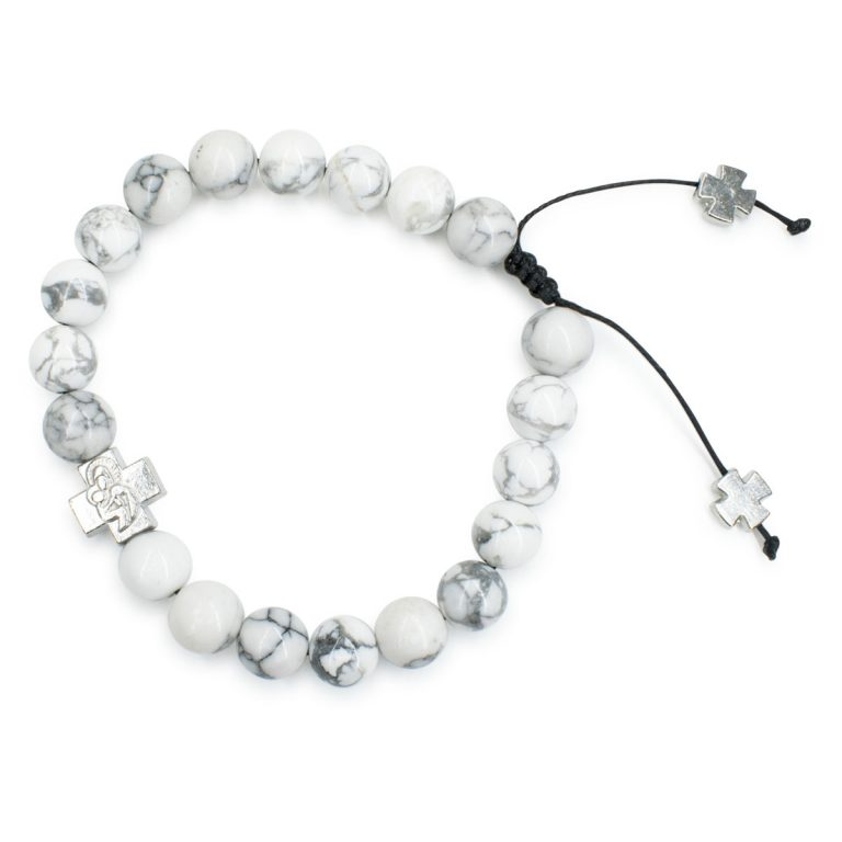 Charming Howlite Stone Prayer Bracelet