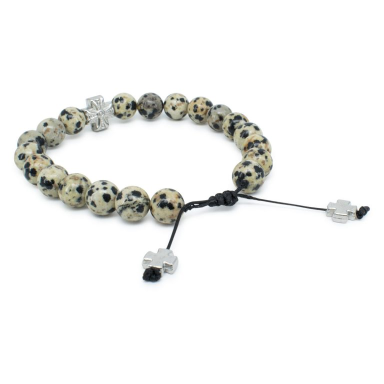 Jasper Dalmation Stone Prayer Bracelet