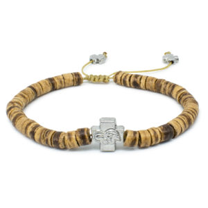 Coconut Tree Beads Wooden Prayer Bracelet-0