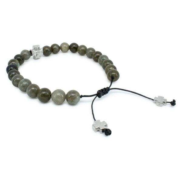 Lovely Labradorite Stone Prayer Bracelet