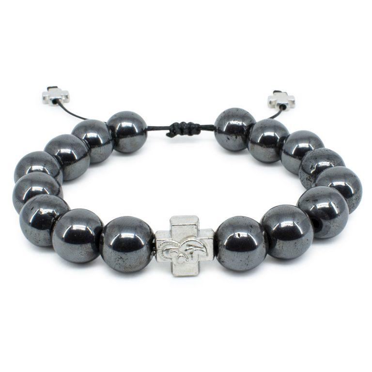 Large Hematite Stone Prayer Bracelet-0