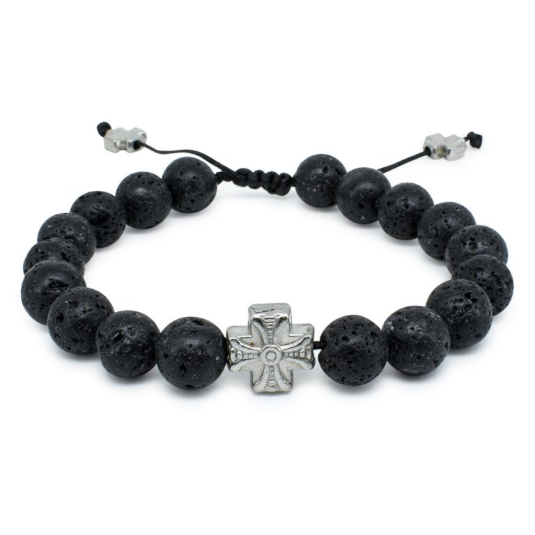 Sublime Lava Stone Prayer Bracelet