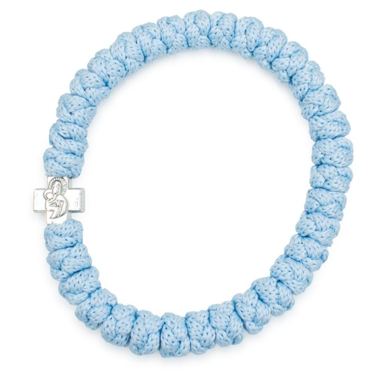 Light Blue Prayer Bracelet