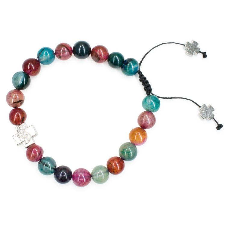 Alluring Multi Color Agate Stone Prayer Bracelet