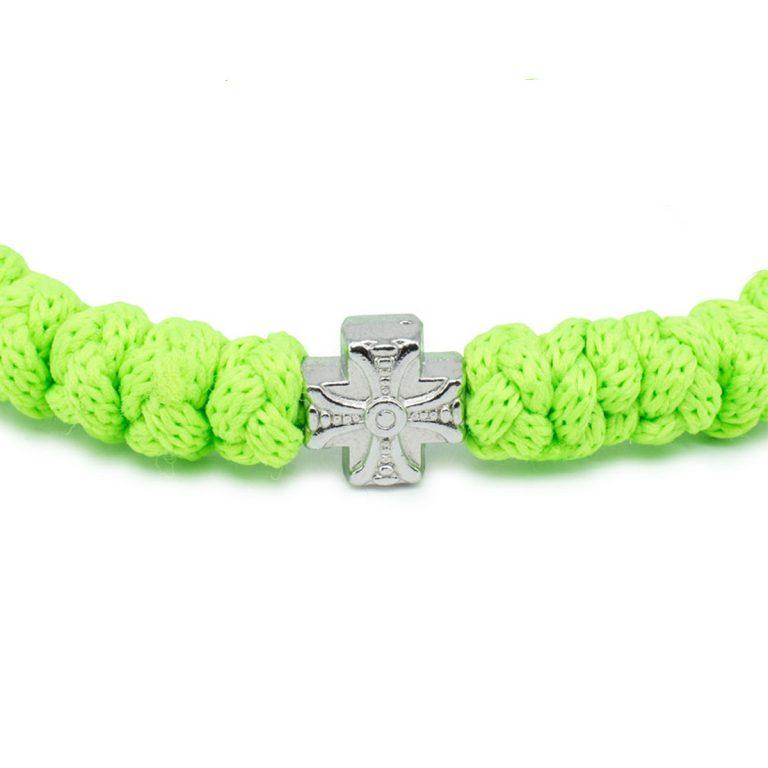 Adjustable Neon Green Prayer Bracelet